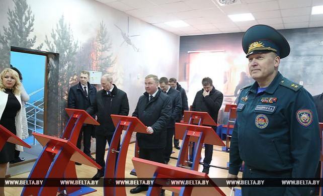 Кобяков посетил Центр безопасности МЧС в Лиде
