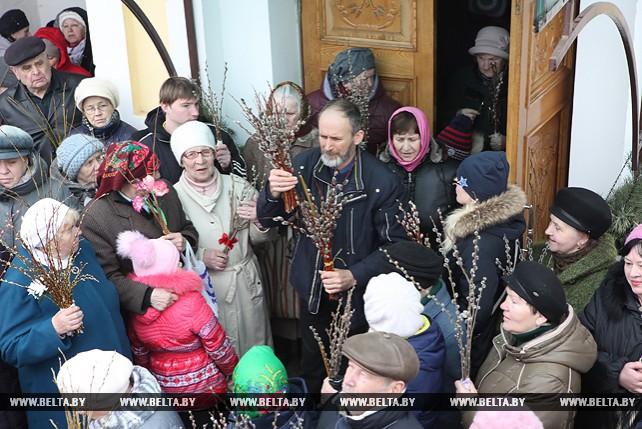 В Гомеле христиане отмечают Вербное воскресенье