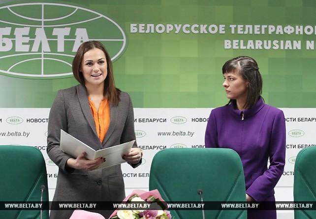 Эйсмонт представила коллективу БЕЛТА нового гендиректора