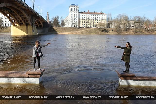 Уровень воды в Западной Двине в Витебске за минувшие сутки поднялся на 132 см