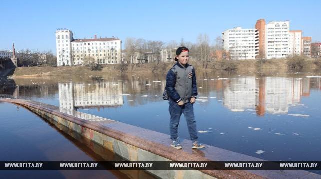 В центре Витебска затопило набережную