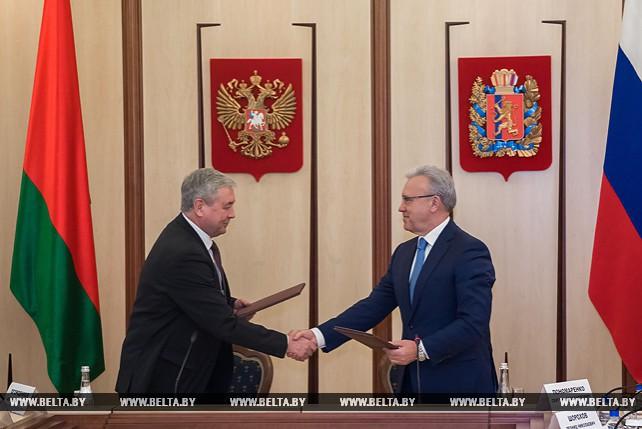 Предприятия Беларуси и Красноярского края подписали семь соглашений и контрактов