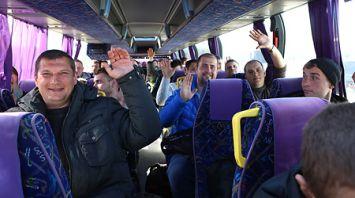 Военнообязанные, проходившие сборы в 37-й гвардейской отдельной механизированной бригаде, отправились домой