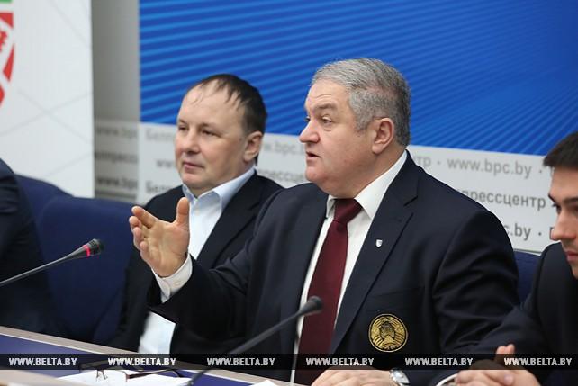 """Ассоциация """"Федерация хоккея Республики Беларусь"""" провела пресс-конференцию в Минске"""