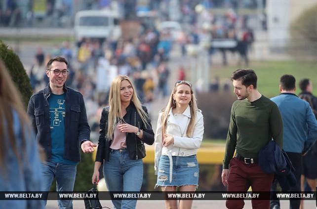 Весенний Минск и минчане