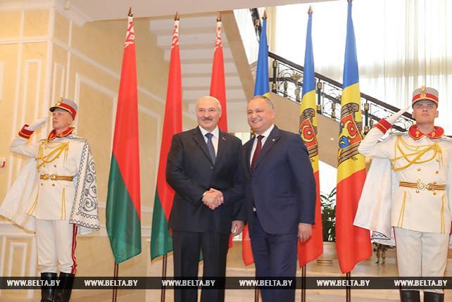 Переговоры Лукашенко и Додона в расширенном составе