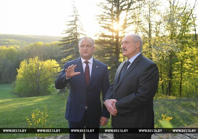 """Президент Молдовы провел для Лукашенко экскурсию по резиденции """"Кондрица"""""""