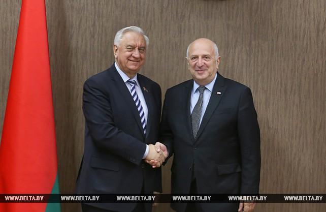 Мясникович встретился с Чрезвычайным и Полномочным Послом Грузии