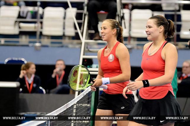 Белорусские теннисистки победили Словакию в парной игре в плей-офф Кубка Федерации