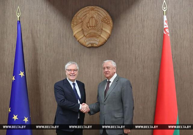 Мясникович встретился с директором Конгресса местных и региональных властей Совета Европы