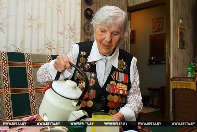 Ветеран Великой Отечественной войны Анна Воронова