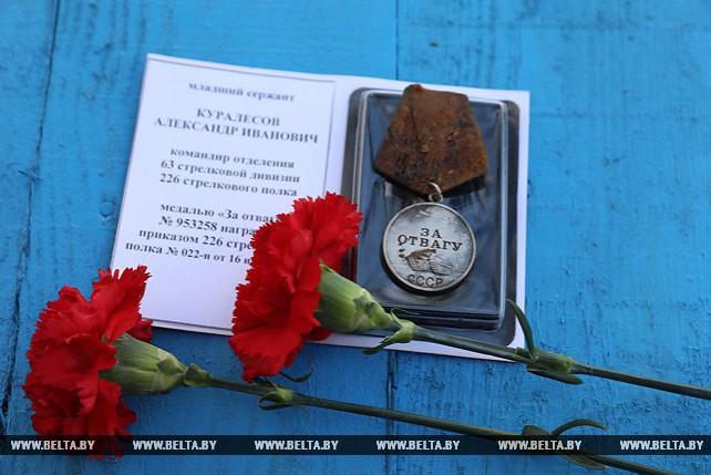 Останки двадцати двух красноармейцев перезахоронили в Витебском районе