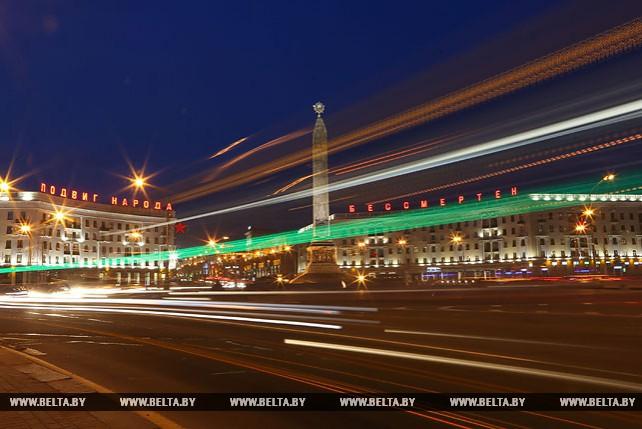 Вечерняя площадь Победы