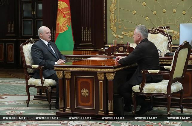 Встреча Лукашенко с председателем Федерации профсоюзов Михаилом Ордой