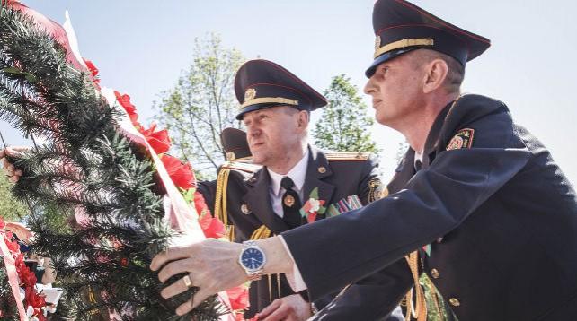 Память сотрудников милиции, погибших в годы войны, почтили в Могилевском районе