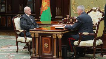 Лукашенко принял с докладом Игоря Шуневича