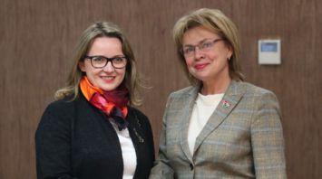 Щеткина встретилась с руководителем представительства ООН в Беларуси