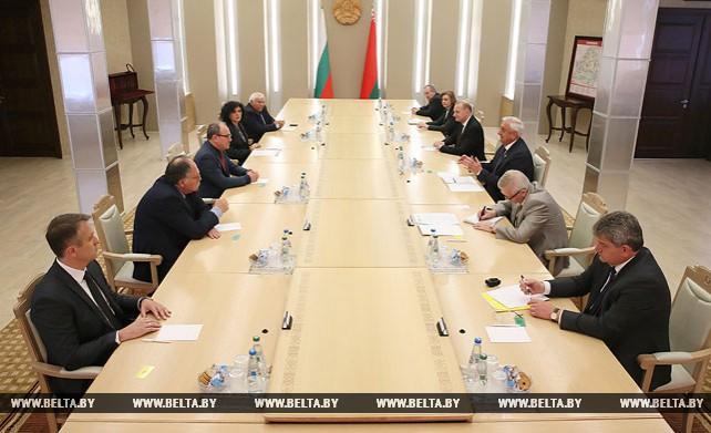 Мясникович встретился с президентом Болгарской академии наук