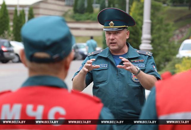 Спасатели провели учения в Летнем амфитеатре в Витебске