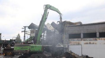 Крупный пожар произошел в цехе Витебской лесопилки