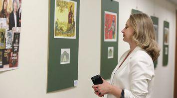 Выставка иллюстраций Павла Татарникова представлена в Президентской библиотеке