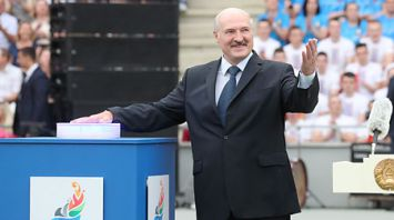 """Лукашенко принял участие в церемонии открытия стадиона """"Динамо"""""""