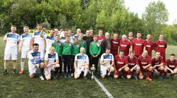 Товарищеский матч по футболу в Могилеве между командами областного и городского исполкомов