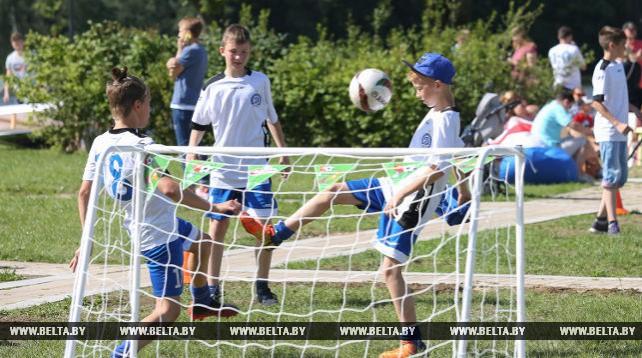 В Минске 6 июля открылась детская футбольная фан-зона