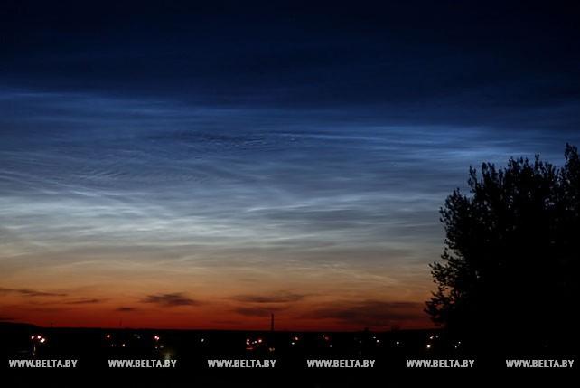 Серебристые облака наблюдали в небе над Гродно