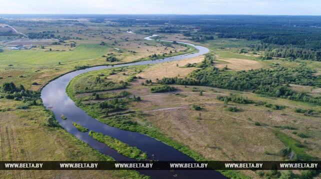 Река Щара с высоты птичьего полета