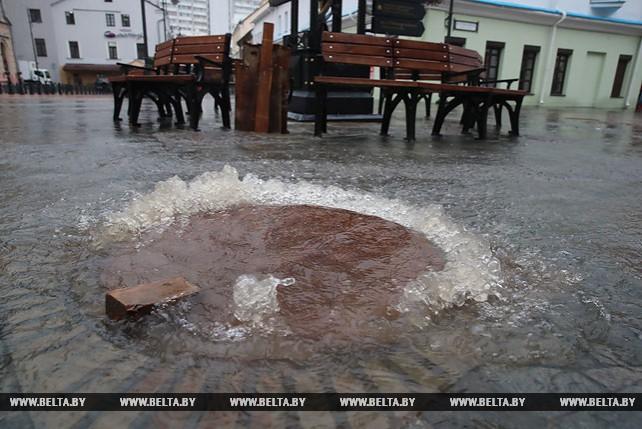 Сильный дождь в Минске