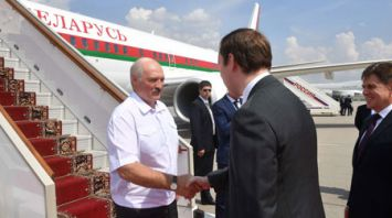 Лукашенко прибыл в Москву, где посетит финал чемпионата мира по футболу