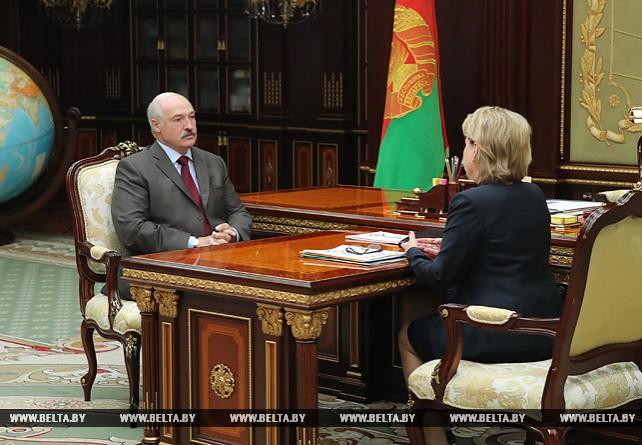 Александр Лукашенко встретился с Марианной Щеткиной