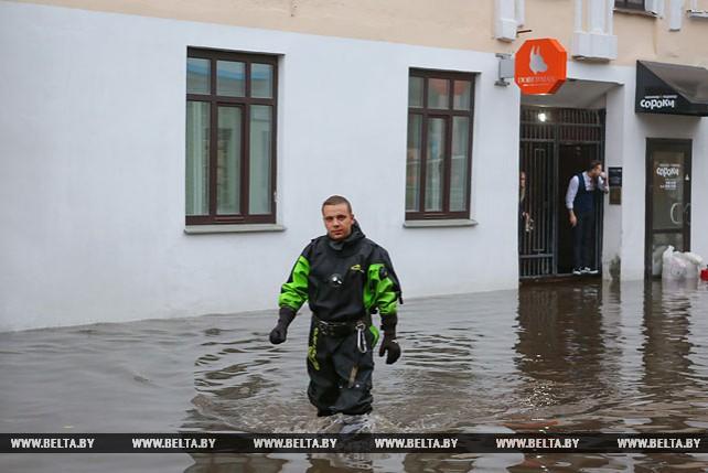 Улицу Революционную в Минске опять подтопило
