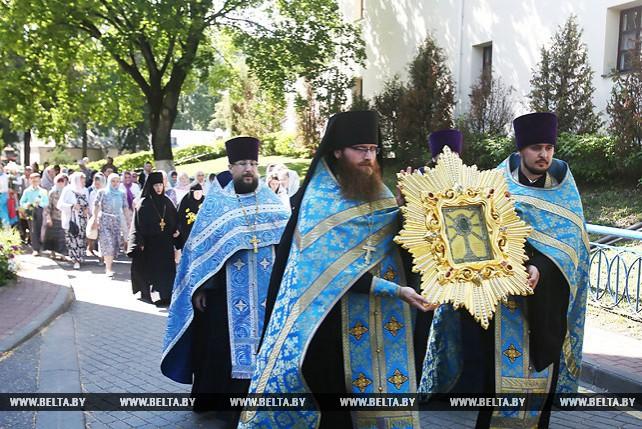 Жировичская икона Божьей Матери прибыла в Гродно