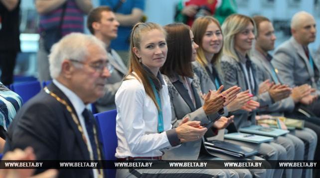 Марки в честь медалистов Олимпиады и Паралимпиады 2018 года презентованы в НОК Беларуси