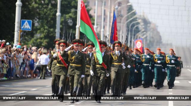 Празднование Дня пожарной службы в Минске