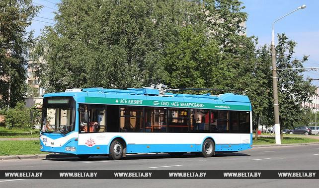 Бесконтактные троллейбусы выехали на маршруты Витебска