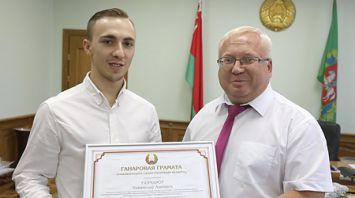 Чествование призеров международных соревнований по прыжкам на батуте прошло в Витебске