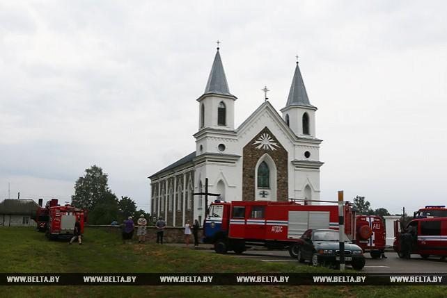 В костеле под Гродно произошел пожар