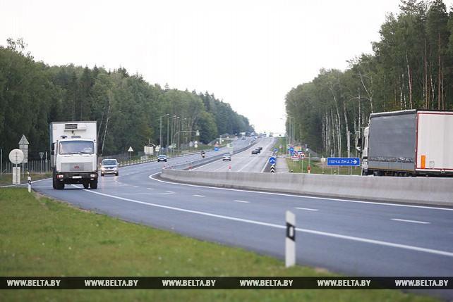 Открылось движение на реконструируемом участке автомагистрали М6 в Щучинском районе