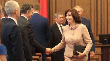 Кочанова представила новый состав правительства сотрудникам Аппарата Совета Министров
