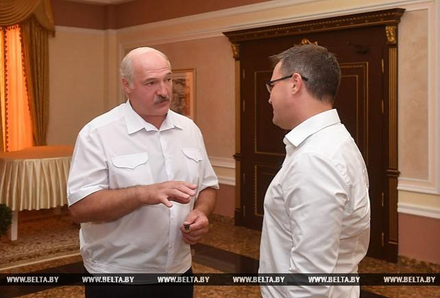 "Лукашенко дал интервью телеканалу ""Беларусь 1"""