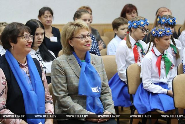Щеткина посетила школу в Минском районе