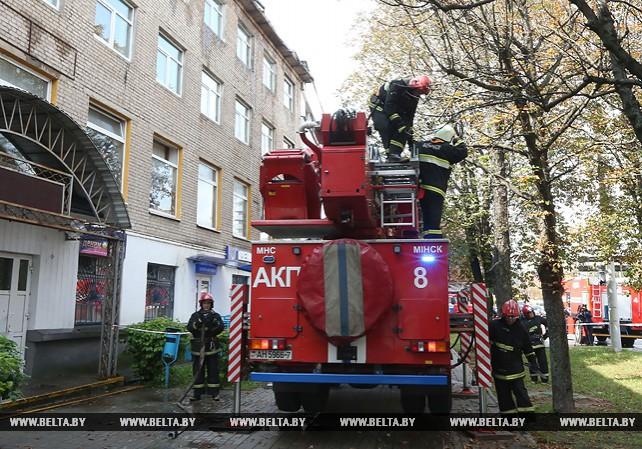 Пожар на ул. Хоружей в Минске ликвидирован