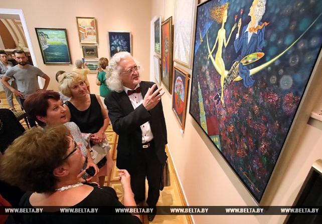 Персональная выставка Владимира Прокопцова открылась во дворце Румянцевых и Паскевичей в Гомеле