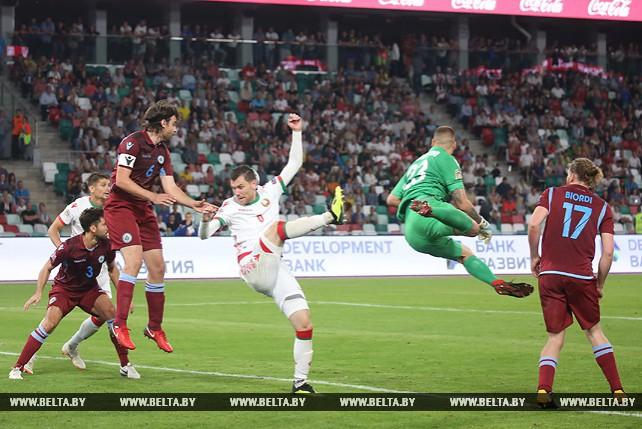Сборная Беларуси по футболу обыграла Сан-Марино в стартовом матче Лиги наций