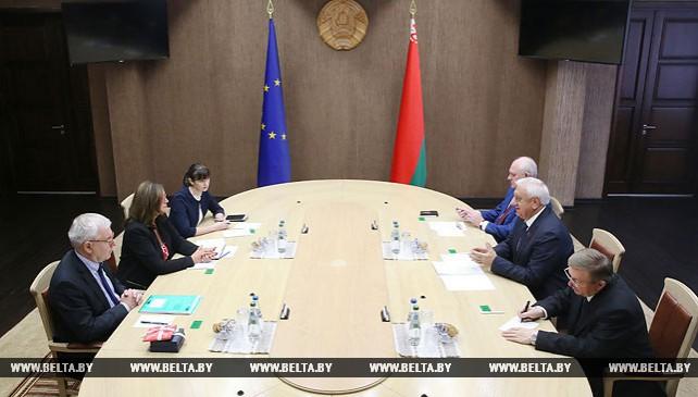 Мясникович встретился с председателем Конгресса местных и региональных властей Совета Европы (КМРВ)