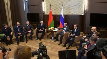 Лукашенко и Путин провели переговоры с участием руководства правительств двух стран