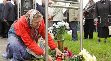 Уроженцы Заречья Пружанского района установили памятник не вернувшимся с войны односельчанам